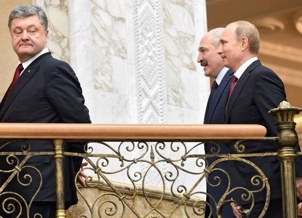 Порошенко и Лукашенко с Путиным